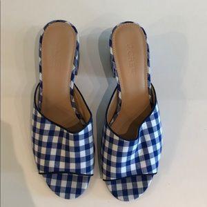 J. Crew Gingham Slides / Heels